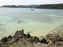 亀岩龍宮神からの海