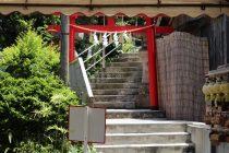 天燈山への階段